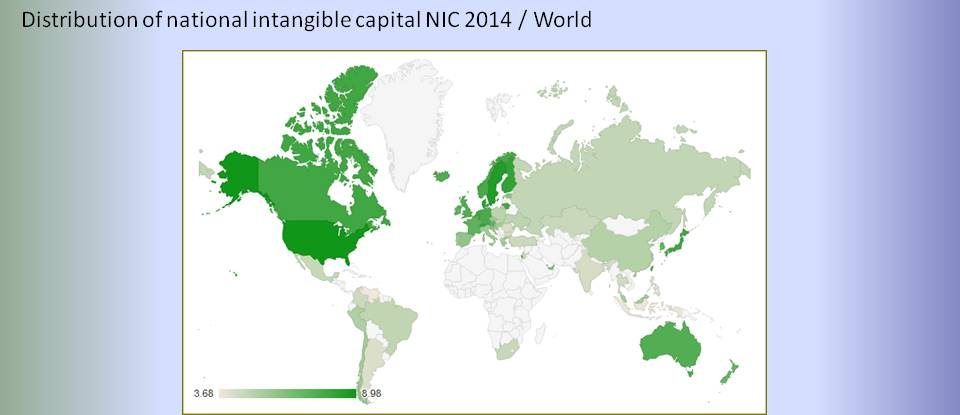 bimac NIC / Distribution of world national intangible capital NIC 2014